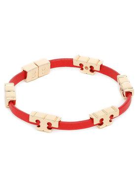 Tory Burch Tory Burch Náramok Serif-T Stackable Bracelet 78421 Červená