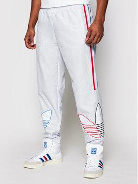 adidas adidas Παντελόνι φόρμας adicolor Track GN3573 Λευκό Regular Fit