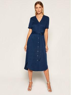 Calvin Klein Calvin Klein Sukienka koszulowa Tencel SS Wrap K20K202182 Granatowy Regular Fit