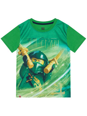 LEGO Wear LEGO Wear Тишърт 12010101 Зелен Regular Fit