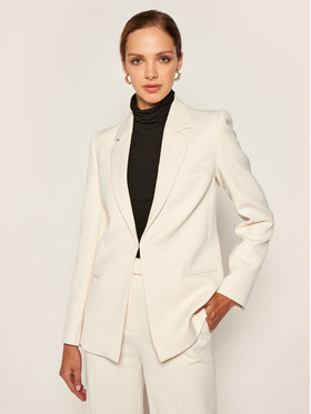 Victoria Victoria Beckham Victoria Victoria Beckham Żakiet Fitted Crepe 2320WJK001485A Beżowy Slim Fit
