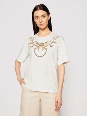Pinko Pinko T-shirt Talento PE 21 PSPG 1N135L Y5BD Beige Regular Fit