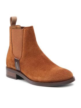 Gant Gant Členková obuv s elastickým prvkom Fayy 23553114 Hnedá