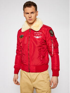 Alpha Industries Alpha Industries Geacă bomber Injector III Air Force 198113 Roșu Slim Fit