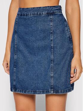 Noisy May Noisy May Džínsová sukňa NMPERI 27017859 Modrá Regular Fit