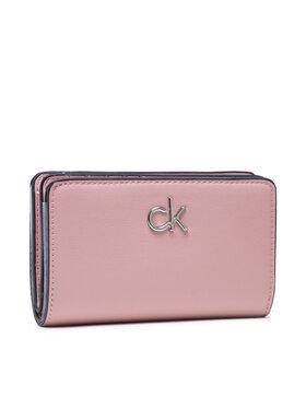 Calvin Klein Calvin Klein Didelė Moteriška Piniginė Billfold French Wallet K60K608247 Rožinė