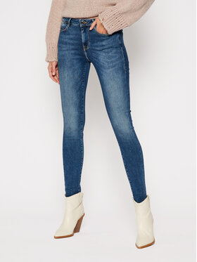 Guess Guess Jeansy Skinny Fit Jegging Mid W0BA03 D38RC Niebieski Ultra Skinny Fit
