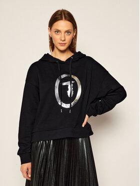 Trussardi Jeans Trussardi Jeans Džemperis Sweatshirt Hooded 56F00102 Juoda Regular Fit