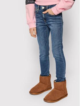 Calvin Klein Jeans Calvin Klein Jeans Džínsy Athletic Fast IG0IG00551 Tmavomodrá Skinny Fit