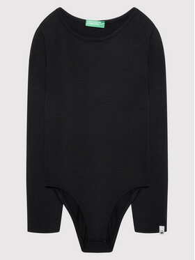 United Colors Of Benetton United Colors Of Benetton Body dziecięce 3A5EC8349 Czarny Regular Fit