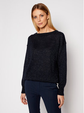 Max Mara Leisure Max Mara Leisure Pull Pilade 33610116 Bleu marine Regular Fit