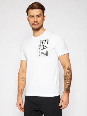 EA7 Emporio Armani EA7 Emporio Armani T-Shirt 3KPT10 PJ7RZ 1100 Bílá Regular Fit