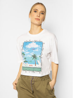Guess Guess Tricou Beach W0GI93 JA900 Alb Regular Fit