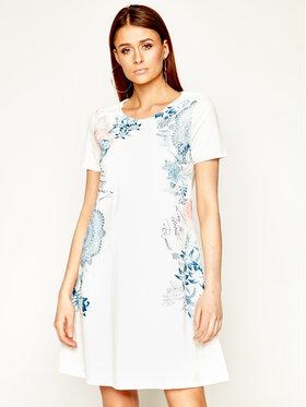 Desigual Desigual Sukienka dzianinowa Vest_Charlotte 20SWVK57 Biały Regular Fit