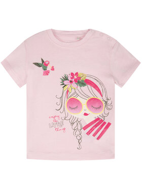 Primigi Primigi T-Shirt Jungle Life 45221509 Różowy Regular Fit