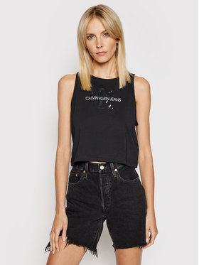 Calvin Klein Jeans Calvin Klein Jeans Top J20J215622 Negru Regular Fit
