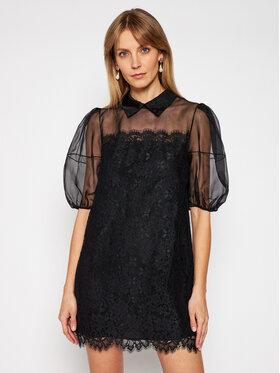 Ermanno Firenze Ermanno Firenze Коктейлна рокля AB28PIZ Черен Regular Fit