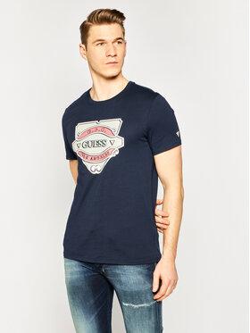Guess Guess T-Shirt Emblem Tee M0GI46 K8HM0 Tmavomodrá Slim Fit