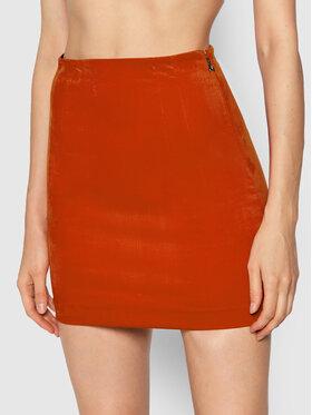 Patrizia Pepe Patrizia Pepe Trapecijos formos sijonas 2G0831/A5U0-R734 Oranžinė Slim Fit