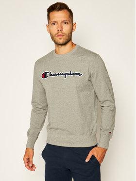 Champion Champion Bluza Satin Script Logo 214188 Szary Comfort Fit