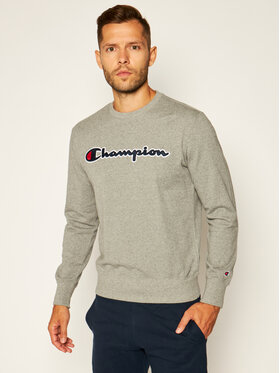 Champion Champion Džemperis Satin Script Logo 214188 Pilka Comfort Fit
