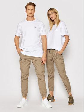 Diamante Wear Diamante Wear Joggers kalhoty Unisex Classic 5493 Béžová Regular Fit