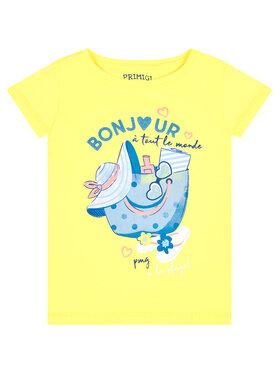 Primigi Primigi T-Shirt St Tropez Memories 45222503 Gelb Regular Fit