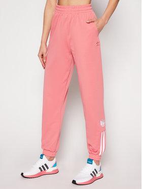 adidas adidas Παντελόνι φόρμας adicolor 3D Trefoil GN6708 Ροζ Regular Fit