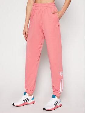 adidas adidas Sportinės kelnės adicolor 3D Trefoil GN6708 Rožinė Regular Fit
