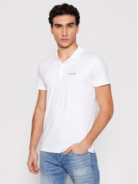 Calvin Klein Jeans Calvin Klein Jeans Polo marškinėliai J30J317439 Balta Slim Fit
