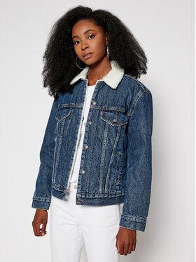 Levi's® Levi's® Giacca di jeans Ex-Boyfriend Sherpa Trucker 36137-0034 Blu scuro Regular Fit
