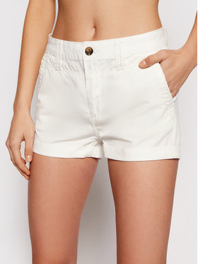 Pepe Jeans Pepe Jeans Szorty materiałowe Balboa PL800629 Biały Regular Fit
