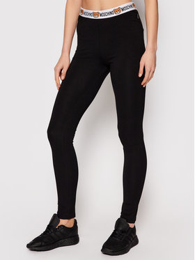 MOSCHINO Underwear & Swim MOSCHINO Underwear & Swim Leggings ZUA4311 9003 Fekete Slim Fit