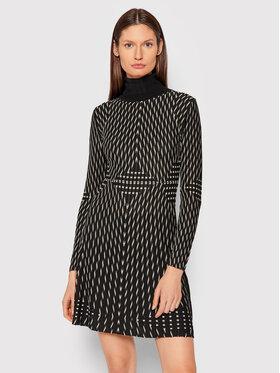 Desigual Desigual Sukienka dzianinowa 21WWVF11 Czarny Slim Fit