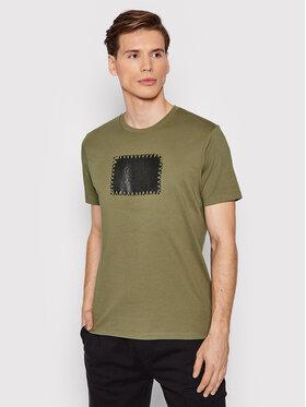 C.P. Company C.P. Company Tricou Label Logo 11CMTS246A 005100W Verde Regular Fit
