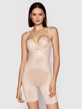 SPANX SPANX Kombinezon modelujący Thinstincts® 2.0 Open-Bust Mid-Thigh 10235R Beżowy