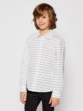 Calvin Klein Jeans Calvin Klein Jeans Chemise Logo All Over IB0IB00550 Blanc Regular Fit