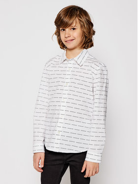 Calvin Klein Jeans Calvin Klein Jeans Košeľa Logo All Over IB0IB00550 Biela Regular Fit