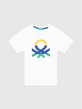United Colors Of Benetton United Colors Of Benetton T-Shirt 3096C1525 Weiß Regular Fit
