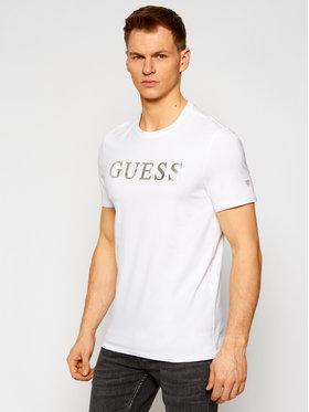 Guess Guess Tričko M0YI08 J1300 Biela Slim Fit