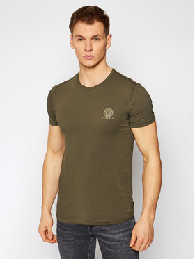 Versace Versace T-Shirt Medusa AUU01005 Zielony Regular Fit