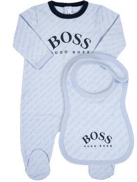 Boss Boss Komplektas: šliaužtinukai ir seilinukas J98280 Regular Fit