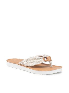 Tommy Hilfiger Tommy Hilfiger Japonki Leather Footbed Th Beach Sandal FW0FW05659 Biały