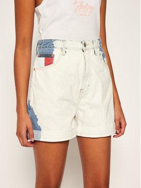 Tommy Jeans Tommy Jeans Džínové šortky Mom DW0DW08407 Bílá Regular Fit
