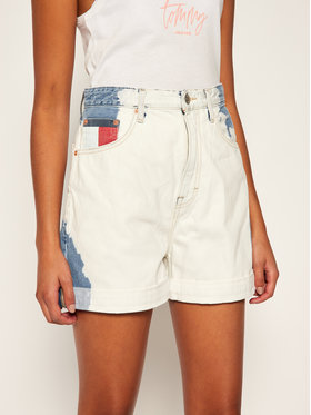 Tommy Jeans Tommy Jeans Jeansshorts Mom DW0DW08407 Weiß Regular Fit