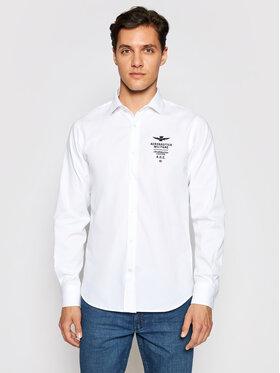 Aeronautica Militare Aeronautica Militare Camicia 211CA1136CT2239 Bianco Regular Fit