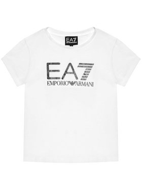 EA7 Emporio Armani EA7 Emporio Armani Тишърт 3KFT51 FJ2HZ 1100 Бял Regular Fit