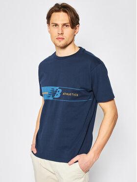 New Balance New Balance T-shirt Keylinet MT01510 Blu scuro Relaxed Fit