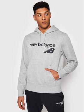 New Balance New Balance Majica dugih rukava C C F Hoodie MT03910 Siva Relaxed Fit