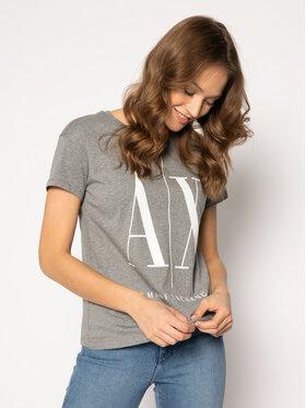 Armani Exchange Armani Exchange T-Shirt 8NYTCX YJG3Z 3930 Szary Regular Fit